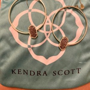 Kendra Scott Elora hoops in platinum drusy